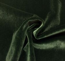 "KRAVET PLUSH MOHAIR EMERALD GREEN WOOL VELVET FURNITURE DRAPERY FABRIC BTY 55""W"