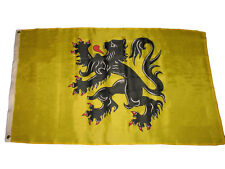 3x5 Yellow Flanders Flemish Lion Polyester Premium Quality Flag 3'x5' Banner