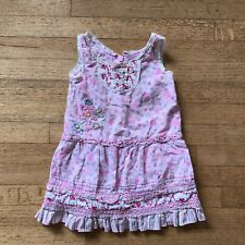 THE CHILDRENS PLACE PINK FLORAL TODDLER DRESS SIZE 24 MONTHS