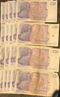 £20 twenty Pound Note AA OLD STYLE Adam Smith Prefix select your serial number