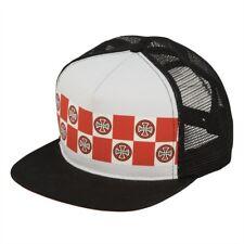 989068142af4c Independent Trucks BANNER REPEAT Skateboard Trucker Hat WHITE BLACK