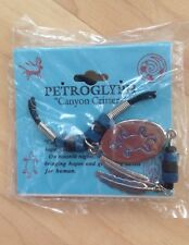 Petroglyph Hope & Guidance Turtle Necklace Blue/Black Beads on Sentiment Card BN
