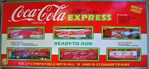 251997 FIRST EDITION COCA COLA 0-27 GAUGE ELECTRIC TRAIN SET EXPRESS IN BOX