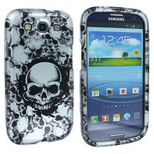 Silver Skeleton Design Snap-On Hard Case Cover for Samsung Galaxy S3