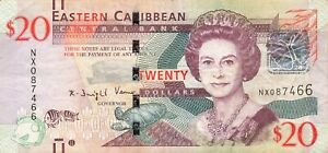 East Caribbean States 20 Dollars 2012 P-53b