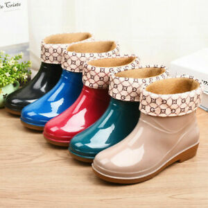 WOMENS WELLINGTON ANKLE BOOTS LADIES WELLIES WINTER RAIN SNOW BOOTS SHOES SIZE