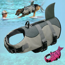Shark Pet Dog Life Jacket Safetf Swimming Float Life Saver Vest Costumes XS-XL