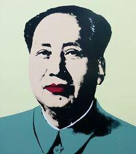 ANDY WARHOL MAO TSE TUNG YELLOW SUNDAY B.MORNING 毛澤東 zedong COA