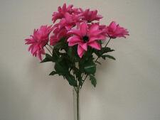 BEAUTY Dahlia Satin Bush 9 Artificial Flowers Bouquet 9004BT