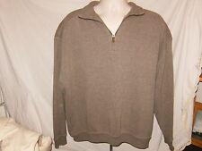Men's Tommy Bahama Brown 1/4 Zipper Sweater Long Sleeves Sz XL