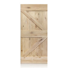 """Matias Design - Rustic Unfinished Knotty Alder Barn Door 36""""x96"""" (Free Shipping)"""