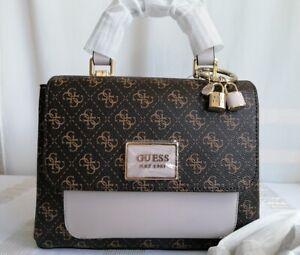 Guess dark brown multi handbag / cross body shoulder bag
