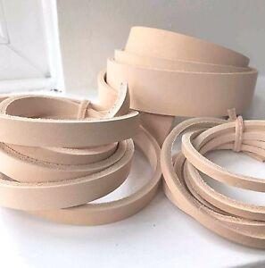 3-3.5mm Natural Vegetable Tanned Leather Belt Blank Strap various length width