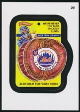 2016 TOPPS WACKY PACKAGES MLB - NEW YORK METS DELI MEAT - STICKER #29