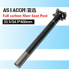 ASIACOM Full carbon folding bicycle seat tube 33.9 / 34.9 x 400mm BMX Seat Post