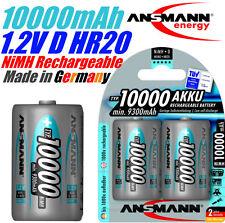 Ansmann 1.2V 10000mAh Mono D HR20 NiMH rechargeable battery 1000 Cycles