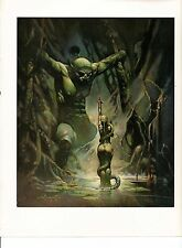 "1975 full Color Plate "" Cave Demon"" by Frank Frazetta Fantastic"