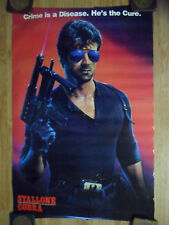 Sylvester Stallone Cobra Movie Poster ~ Crime is a Disease. He is the Cure.