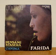 FARIDA - Pensami stasera / L'anima - RCA PM 3533