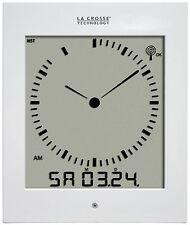513-1311W La Crosse Technology Analog-Style Atomic Wall Clock - White CLOSEOUT