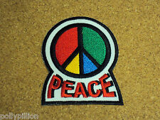 NOVELTY PEACE HIPPIE SEW/IRON ON PATCH:- ANTI-WAR PEACE C.N.D. SYMBOL (b)