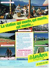 PUBLICITE ADVERTISING 034   1983   LES ARCS   station  de ski qui monte..