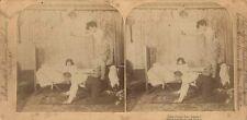 STEREOVIEW-THAT PESKY RAT AGAIN.  STROHMEYER AND WYMAN, NEW YORK, N.Y. 1891