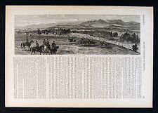 Harper's Civil War Print - Union Camp at Foot of Blue Ridge Mountains Virginia