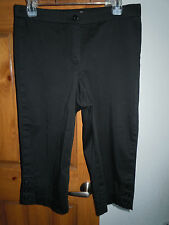 Coldwater Creek women's black capri pants Petite size 8P