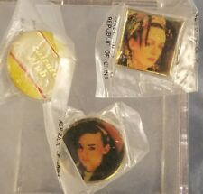 """Lot of 3 Vtg Culture Club Pin/Button approx 1"""" New Condition Nip Pinback"""