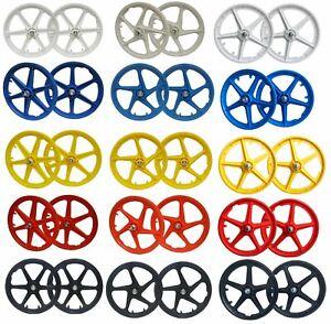 "20"" BMX Mag Wheelset 5 or 6 Spoke Freestyle Bike Colour Wheels FRONT & REAR"
