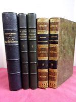 Bon lot livres reliés XIXe Voyages Orient, Hongrie, Grande Bretagne