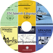 110 Hours Spanish Language Course FSI for Diplomats-complete MP3 Audio on 1 DVD