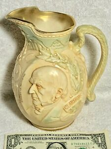 Dazzling William Ewart Gladstone Ceramic Commemorative Jug Doulton c1898 England