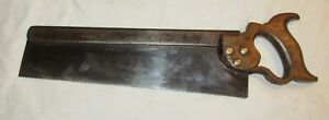 Antique saw 14 Inch John Elsworth & Son Sheffield old saw woodworking tool saw