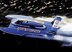 "36"" ATLAS VAN LINES BLUE BLASTER FIBERGLASS RC BOAT HULL HYDROPLANE KIT USA MADE"