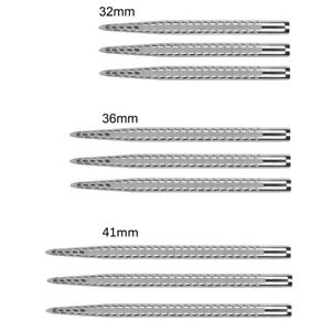 Target Quartz Pro Replacement Dart Points Silver 32mm - 36mm - 41mm Laser Etched