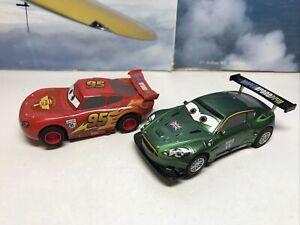 Micro Scalextric Car 1:64 Disney Pixer Cars Lightning McQueen Working