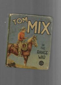 VINTAGE BIG LITTLE BOOK TOM MIX In the Range War 1937 Whitman Buck Wilson H Arbo