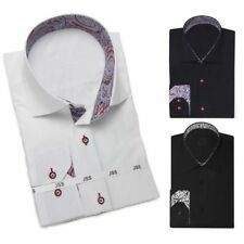 Button Cuff Textured Singlepack Formal Shirts for Men