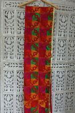 Tablecloth napkin vintage phulkari indian embroidered wedding fabric SKU15471