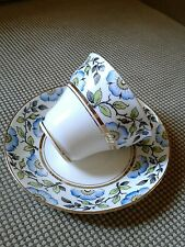 Rosina bone china made in England tea cup and saucer blue flowers