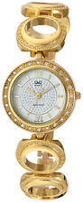 Q&Q by Citizen F341-001Y Crystal Embellished Gold Tone Women's Watch $99