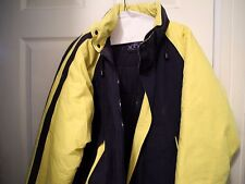 NAUTICA Windbreaker Hooded Puffer Jacket Men'S Blue & Yellow Size XL XL20