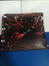 NEW Style Marvel Comics Deadpool Logo Leather Short Wallet Purse Bi-Fold Gift @