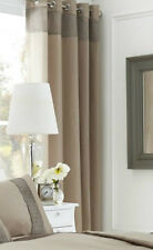 PEARL GOLD 66 x 90 READY MADE RING TOP EYELET CURTAINS CRINKLE TOP
