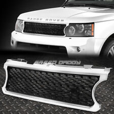 FOR 06-09 RANGE ROVER HSE CHROME ABS PLASTIC FRONT HOOD SPORT BLACK MESH GRILL