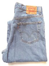 Levi's 560 Jeans de pierna ahusada Comfort Fit W35 L34 Mid Azul Strauss levh 945 #
