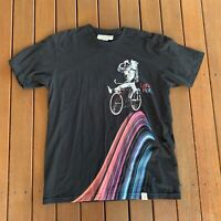 Imaginary Foundation Size L Black TShirt Made In USA Astronaut Lets Roll
