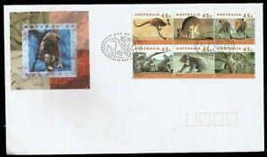 KANGAROO KOALA AUSTRALIA FIRST DAY COVER FROM 1994 ENDANGERED SPECIES